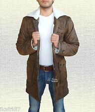 Mens 'BANE' Dark Knight Rises Handmade Sheep Leather Coat/Jacket Brown Sizes