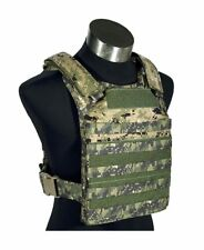 FLYYE Fast Attack Plate Carrier (FAPC) MOLLE Vest - AOR2 Navy Seal Woodland Camo