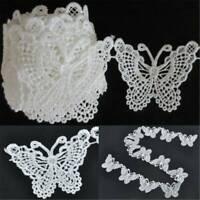 1yard Vintage Butterfly Bow Lace Trim Ribbon Wedding Applique Sewing Craft DIY