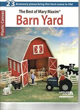 Barn Yard  ~   plastic canvas book ~ Best of Mary Maxim ~ Leisure Arts