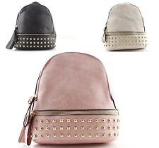 Zaini zainetti donna con borchie borchiati zaino borsa nero rosa beige rosso