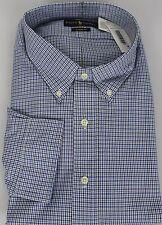 Polo Ralph Lauren Dress Shirt Mens 22 34 35 Classic Fit Blue White