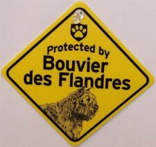 Protected by Bouvier Dog Window Sign Made in Usa