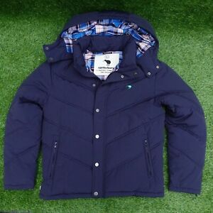 Canterbury 'Played In Heaven' Navy Bubble Puffer Coat Jacket Size Large