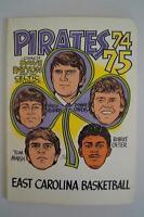 Vintage Basketball Media Press Guide East Carolina University 1974 1975