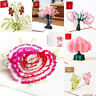 3D Pop up Cards Vintage Theme Greeting Cards Thanksgiving Mother's Day Gift