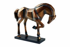 Hansmeier Design-Statue Horse Modern Art - Tischdeko Tischskulptur Wohndeko