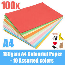 100Pcs 10 color 180gsm A4 Coloured Card Cardboard Paper for DIY Craft