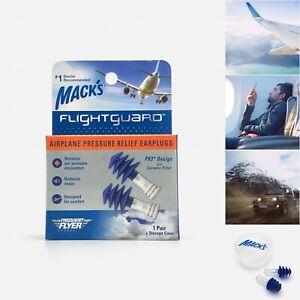 Mack's Flightguard Airplane Pressure Relief Earplugs - Flying Travel Ear Plugs