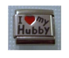 Italian Charms L6 Husband I  Red Heart Love My Hubby Fits Classic Size Bracelet