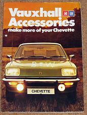 1976 VAUXHALL CHEVETTE ACCESSORIES Sales Brochure