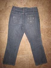 Chicos 1.5 >Women's 10 >32 X 28•Jeans  Blue W/ *Rhinestone Pockets•Excellent Con
