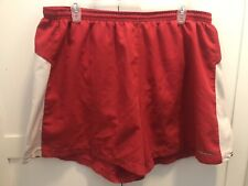 Brooks Men's Running Shorts Size XL Red White Lined Used