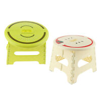 2pcs Anti-skid Fold Step Stool Foldable Bathroom Stool Seat Green-S Beige-L