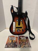 Guitar Hero Wii Bundle RedOctane Sunburst Legends Of Rock & Aerosmith Game