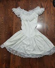 VTG Betsey Johnson PUNK FACE LABEL Ruffle Lace Dress Size Medium 8-10