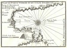 Antique map, Plan de Porto Venere et du Golfe d'Especia