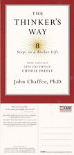 THE THINKERS WAY A BOOK BY JOHN CHAFFEE PhD UNUSED COLOUR ADVERTISING POSTCARD
