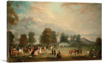 Archery Meeting in Bradgate Park, Leicestershire Canvas Art Print John Ferneley