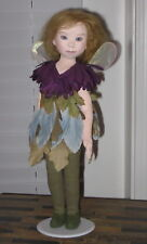 """Kate Lackman OOAK Fairy 16"""" Painted Cloth Doll 1994"""