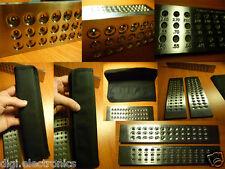 Tungsten Carbide Steel DRAWPLATE 39 Round Holes 0.26 - 2.80mm Draw Plate Wiring