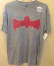 Batman Worn Logo DC Comics Tee Shirt XXLarge Man Of Steel 2 Dark Knight Black
