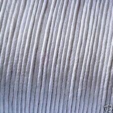 WHITE COTTON WAXED CORD/THONG 1mm x 10 metres