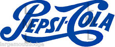 PEPSI LOGO SCRIPT DECAL 4 INCH GUMBALL MACHINE