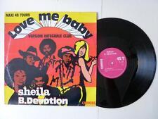 "Sheila B.Devotion Love Me Baby Version Integrale Club Original French 12"" 1977"
