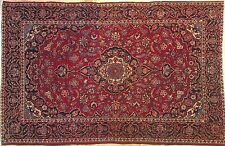 Delightful Dabir - 1920s Antique Kashan Rug - Persian Oriental Carpet 4.4 x 6.8