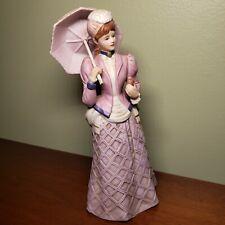 Home Interiors Homco Porcelain Victorian Figurine Miss Violet 14502-98