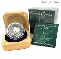 2004 $5 TASMANIA BICENTENARY Silver Proof Coin