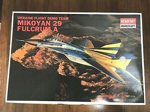MIKOYAN 29 FULCRUM A - UKRAINE FLIGHT DEMO - ACADEMY 1/48 PLASTIC KIT - COMPLETE