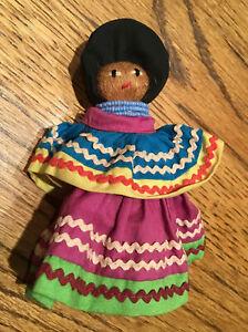 1 Antique Vintage Florida Seminole Indian Doll Native American Palmetto Fiber