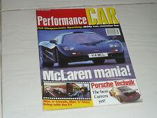 PerformanceCarMar95 McLaren F1 Porsche 993 Techart Zeemax BMW M3 E36 Alpine GTA