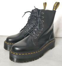 Doc Martens Jadon Platform 8-Eye Boot Black Leather Womens Size 9