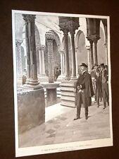 L'Imperatore Guglielmo II in Sicilia nel 1904 Chiostro di Monreale