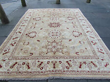 Traditional Hand Made Rugs Afghan Zigler Oriental Wool Brown Carpet 324x243cm