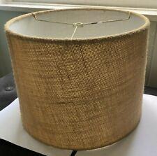 Vintage Burlap Lamp Shade Round