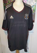 Liverpool FC Adidas Football Away Shirt 2011/12 Season - Size XL  Black Grey