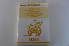 Fahrerhandbuch Bedienungsanleitung Suzuki GS 500 in EN/FR/GE/DU/SP/IT/SW BJ 2000