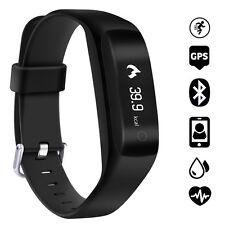 C5 OLED GPS Band Smart Watch Wrist Bracelet Heart Rate Monitor Bluetooth 4.2
