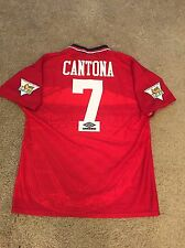 MANCHESTER UNITED HOME SHIRT 1994/96 ADULTS LARGE (L) CANTONA 7 VINTAGE JERSEY
