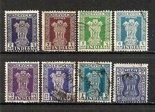 INDIA 1950-1958, servizio, 8v usati (pha166)