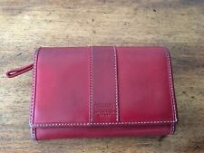 Authentic COACH Vintage Red/Burgundy Leather Bi-Fold Leather Wallet