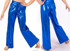 NWT Pumpers Metallic Blue Dance Pants/Tights  Costume Adult S