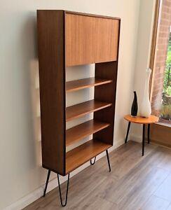 Mid century G Plan Form Five shelving unit bookcase cabinet teak vintage hairpin