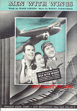 Men With Wings Sheet Music Fred MacMurray Ray Milland Aviation Hoagy Carmichael