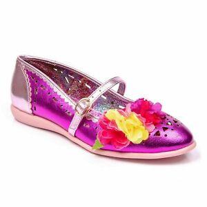 Irregular Choice 'Pulchra' (B) Pink Floral Ballerinas Flat Shoes