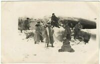GERMAN OFFICERS WW1 WINTER FUR TRENCH COATES WAR RPPC ANTIQUE PHOTO POSTCARD